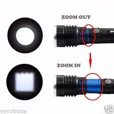6000Lumen 5 Modes Zoomable CREE XM-L T6 LED 18650 Flashlight Focus Lamp Torch