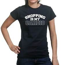 Shopping Is My Cardio Gym Fitness Funny Ladies T shirt Tee Top T-shirt
