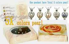 New Wish pearl Gift 1X Wish Pearl heart pendant and 5X pearl Necklace set-3624