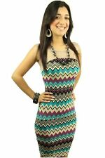 DEALZONE Trendy Mesh Two Tone Dress M Medium Women Multi-Colored Career