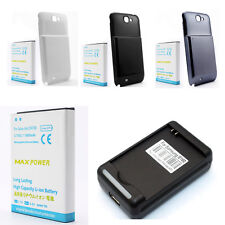 6800mAh Li-ion Polymer Battery With Back Cover Fr Galaxy Note 2 II N7100+Charger