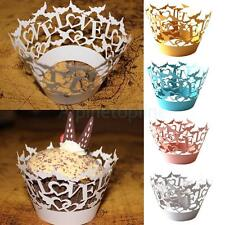 50pcs New Hollow Out Love Paper Cupcake Wrappers Muffin Cup Baking Cases Décor