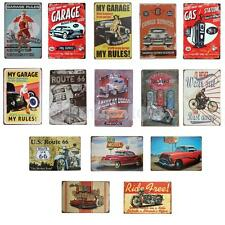 AUTO CAR THEME Metal Tin Sheet Metal Sign Vintage Picture Bar Wall Decor Plaque