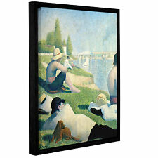 ArtWall 'Bathers at Asnieres' by Georges Seurat Framed Painting Print on Canvas