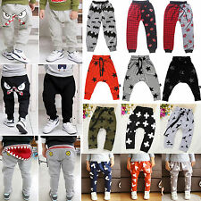 Toddler Baby Loose Trousers Kid Boy Girl Casual Harem Pants Jogger Track Bottoms