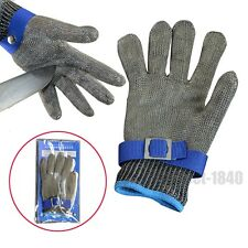 Stainless Steel Metal Mesh Butcher Safety Cut Stab Resistant Protective Glove