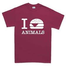 I Burger Love Animals Vegan Vegetarian Funny T shirt Tee Top T-shirt