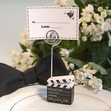 6 Clapboard Style Name / Memo Note Wedding Place Cards Holders Favors Gifts
