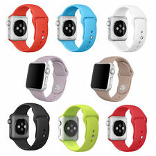 3pcs Silicone Rubber Sport Wrist Watch Band Strap Bracelet for Apple Watch
