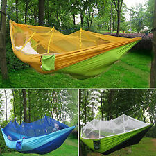 Portable Parachute High Stretch Nylon Jungle Camping Double Hammock Mosquito Net