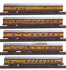 Con-Cor 40373 N Royal American Shows 85' Smooth-Side 5-Car Set with Micro-Trains