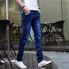 Fashion Casual Mens Jeans Pant Slim Fit Straight Leg Denim Trouser Designer Jean
