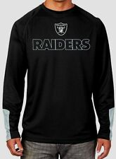 Oakland Raiders Cutting Through Long Sleeve Cool Base Jersey Shirt Plus Size NFL
