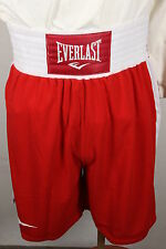 New NWT EVERLAST Standard Boxing Shorts Trunks Red & White MMA Kick Boxing