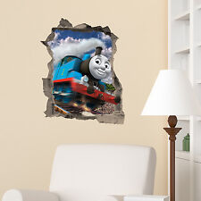 Thomas The Tank Engine in wall Kids Boy Bedroom Vinyl Decal Wall Sticker Gift