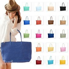 NEW Raffia Casual Vintage Beach handbag Straw Woven Totebag large Shoulder Bag