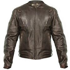 Xelement Men's Retro Brown Premium Speedster Motorcycle Jacket  Zip Out Lining