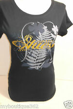 GUESS BLUE TEE TOP CREW NECK GUESS PRINT LOGO ON THE FRONT NEW WITH TAG