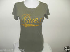 NWT GUESS SAND DOLLAR TEE TOP W/ GLITTER GUESS LOGO