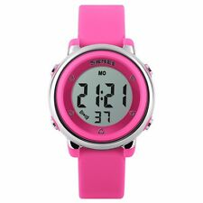 Children LED Waterproof Sports Swim Watches Kids Cartoon Jelly Digital Watch M24
