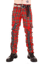 Large Size Red Tartan Punk Rock Zip Pants Tiger of London Orig