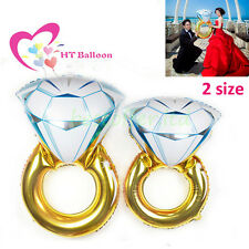 "30""/43""Huge Diamond Ring Foil Helium Balloon Wedding Engagement Party Decoration"