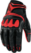 Icon 2016 Overlord Resistance Street Gloves - Red