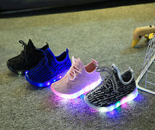 Boys Girls Children Sports Sneakers Casual Flashing LED Light Kids Running Shoes