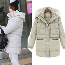 Winter Womens Warm Down Long Jacket thick Coat Thick White Duck Down Snow Parka