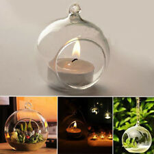 Romantic garden home glass candle holders can be hung crystal glass candlestick