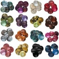 50pcs Mussel Shell Flat Round Coin Charm Beads 18mm For Diy