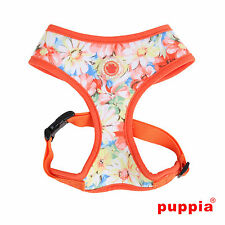 Any Size - PUPPIA - SPRING GARDEN - Dog Puppy Soft Harness - Orange