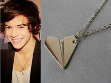 Brand New Cute Harry Styles 1D One Direction Paper Gold Plane Airplane Necklace