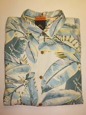 $118 TOMMY BAHAMA FROND IN THE SUN  ORIGINAL FIT  S/S SILK CAMP  SHIRT, SIZE L