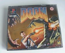 Doom Sony PlayStation 1 PS1 Complete Rare PAL Game Big Box