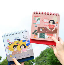 Du-dum 100 Days Planner Diary Journal Study Notebook Scheduler Cute Stand Agenda