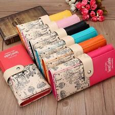 Womens Ladies Girls PU Leather Card Holder Long Purse Wallet Clutch Handbag 2016