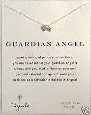 "New Dogeared GUARDIAN ANGEL 18"" Sterling Silver Necklace, Wings Charm,Fine Chain"