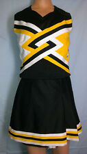Cheerleader Uniform Fancy Black Halloween Dance Costume Adult