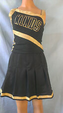 Slingky black Gold Cheerleader Uniform Fancy Halloween Costume Adult