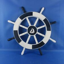 "Ship 18"" Decorative Ship Wheel with Sailboat Wall Décor"