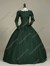 Victorian Gothic Civil War Day Dress Gown Theater Reenactment Punk Clothing 316