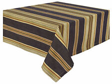 Traders and Company Big Horn 100% Cotton Striped Tablecloth