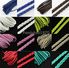 10m Braided Imitation Leather Cords Herringbone DIY Jewelry Bracelet Findings