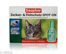 Beaphar SPOT ON Flea protection Drop Tick protection Tick control Repellent Cats