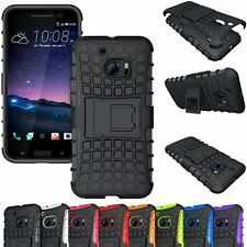 Hybrid Shockproof Heavy Duty Rugged Kickstand Cell Case Hard Cover For HTC Phone