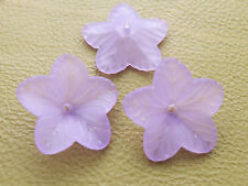 17mm 50/100/../400pcs FROSTED ORCHID ACRYLIC PLASTIC FLOWER LOOSE BEADS SK4176