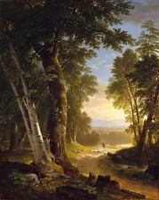 Canvas Print Dusk Landscape Classical Oil painting Picture Printed on canvas P33