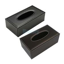 Leather Tissue Box Cover Napkin Toilet Paper Holder Home Car Tissue Box Holder