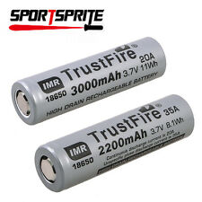 TrustFire IMR18650 2200mAh/3000mAh 3.7V Rechargeable Li-ion Battery Grey